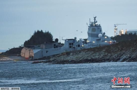 当地时间11月8日,挪威海军一艘军舰与一艘油轮在挪威Oygarden水域海岸附近相撞,造成多人轻伤。