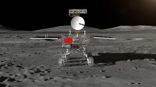 资料图片:这是探月工程嫦娥四号任务月球车外观设计构型。新华社发