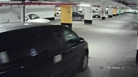 案发时的监控视频显示陆姓留学生被嫌疑人绑上车。