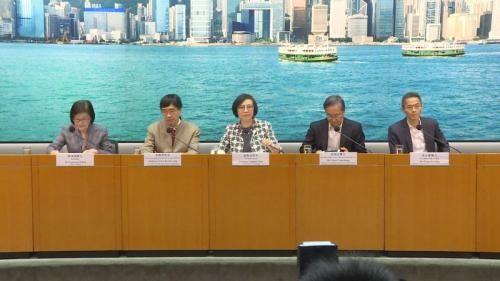 28日,香港食物及卫生局长陈肇始就麻疹情况召开记者会。图片来源:香港特区政府新闻网