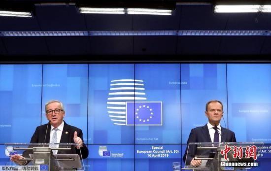 """欧洲理事会主席图斯克称,""""欧盟27国和英国已同意灵活延长至10月31日。这意味着英国需要额外6个月的时间来寻找可能的最佳解决方案""""。"""