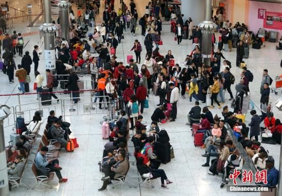 资料图:香港西九龙站迎来大批出入境旅客。中新社记者 张炜 摄