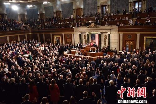 资料图:美国国会开幕。中新社记者 沙晗汀 摄
