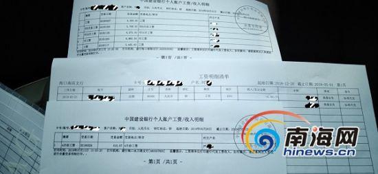 网友刘女士提供的工资收入明细。刘女士供图