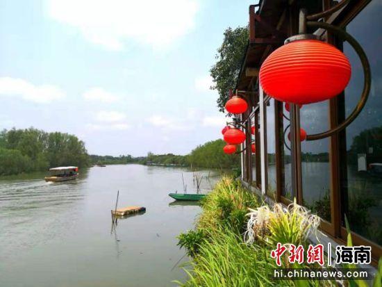 图为海口东寨港红树林湿地旅游。(资料图片) 尹海明 摄