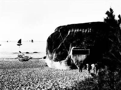 上世纪80年代末的天涯海角景区。 游必生摄
