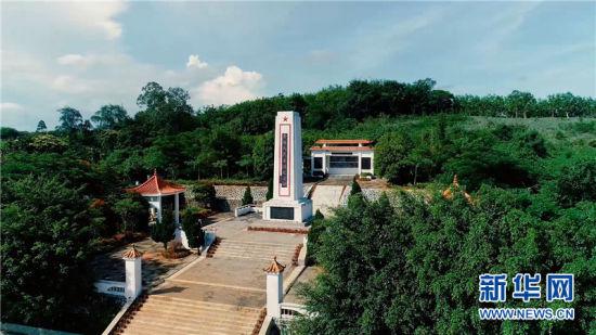 """海南文昌南阳革命精神仍然激励着新时代的文昌人""""不忘初心,牢记使命""""开创美好生活。图为南阳人民英雄纪念碑。"""