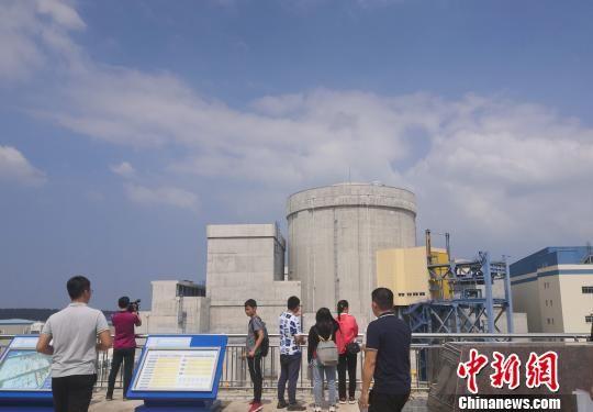 图为媒体记者参访海南昌江核电厂。 尹海明 摄