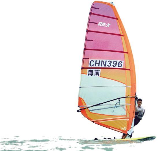 2019年海南省青少年帆船帆板锦标赛近日在海口举行。海南日报记者 封烁 摄