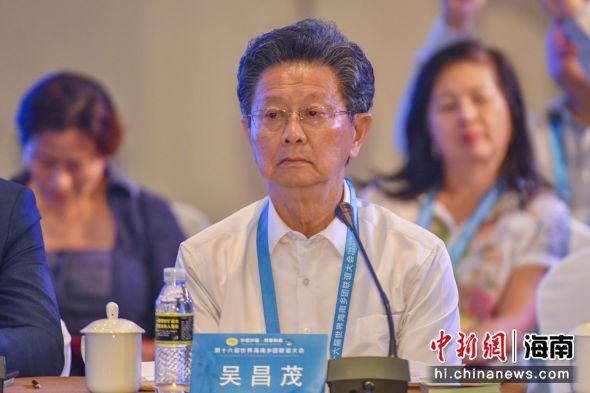 澳大利亚海南社团总会会长吴昌茂。骆云飞 摄