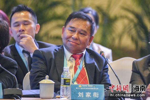 印尼海南总会主席刘家衔。骆云飞 摄