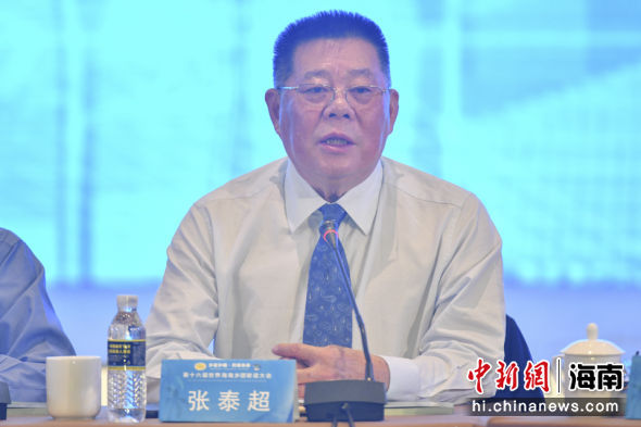 香港海南社团总会会长张泰超。骆云飞 摄