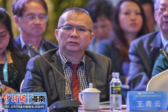 苏里南海南同乡会副会长王青云。骆云飞 摄