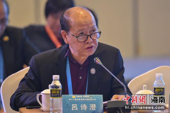 美国海南商贸总会主席吕诗澄。骆云飞 摄
