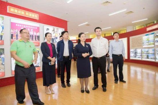 文昌市委常委、宣传部长李娇慧,副市长何欢宝出席成就展启动仪式。