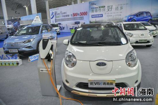 图为在海南新能源车展上展出的新能源汽车。骆云飞摄