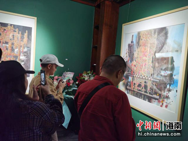 画家赵福才水彩作品展在海口国新
