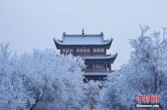 资料图:小寒时节,甘肃嘉峪关市迎来了一场大雪。师永红 摄