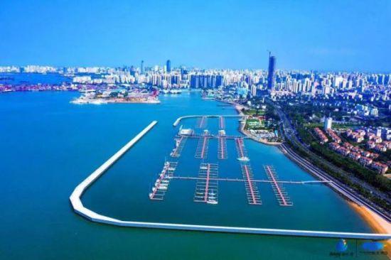 图为海口市国家帆船基地公共码头。海口旅文局 供图