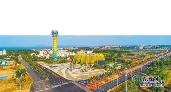 建设中的海口江东新区。海南日报记者 张茂 摄
