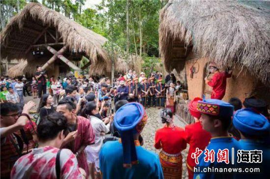 槟榔谷特色民俗展示。潘达强供图
