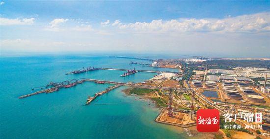近日,位于洋浦经济开发区的海南炼化成品油码头和金海浆纸码头日渐繁忙。 海南日报记者 陈元才 特约记者 郝少波 图/文