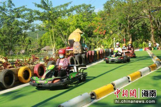 凌空潜底+梦幻飞旋 全国首家田野卡丁车项目在槟榔谷运营 景区供图