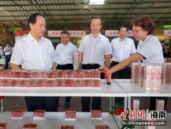 海南省委书记刘赐贵一行在亚龙湾玫瑰谷调研 记者王晓斌摄