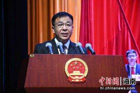 县委书记王昱正发表讲话。保亭融媒体中心供图