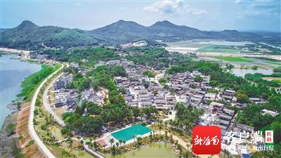 俯瞰琼海博鳌沙美村。