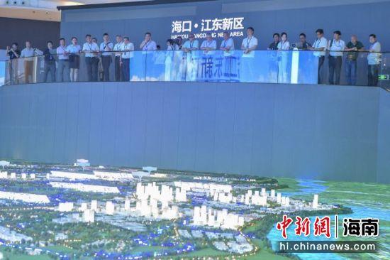 全国台企联31名台商参观海南自贸港海口江东新区展示中心。骆云飞摄