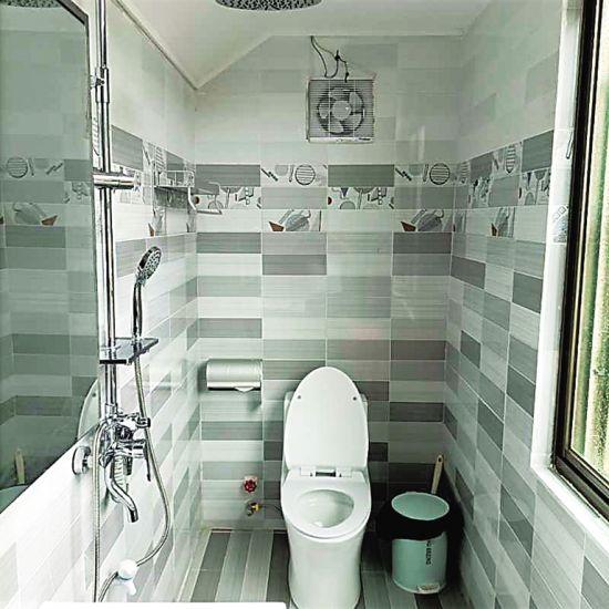 琼海大路镇坡塘二村村民新建厕所环境卫生整洁。
