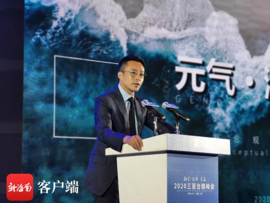 汪小菲做项目推介。记者 刘丽萍 摄