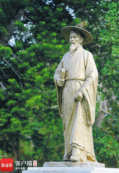 苏东坡曾在杭州任职,1097年被贬琼州。 海南日报记者 苏晓杰 摄
