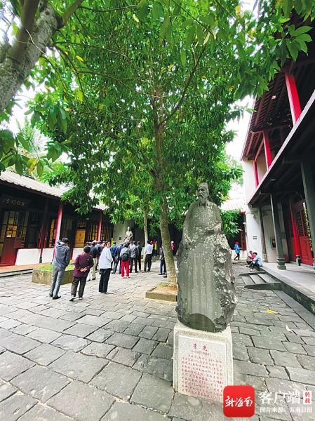 海口市五公祠纪念的李光是浙江人氏。海南日报记者 陈耿 摄