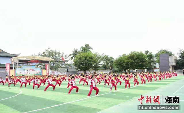 海口举办武术进校园活动 传承优秀传统文化