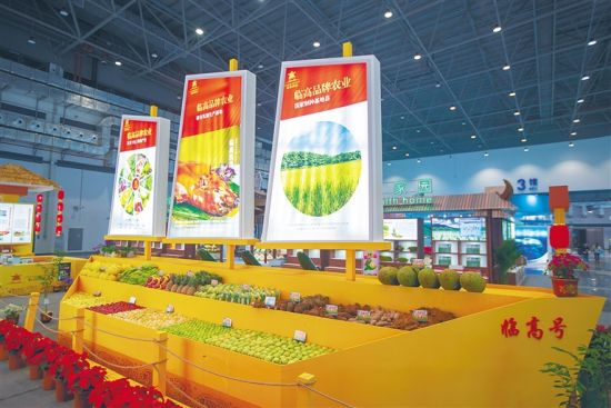 2020年中国(海南)国际热带农产品冬季交易会临高展台。阮琛 摄