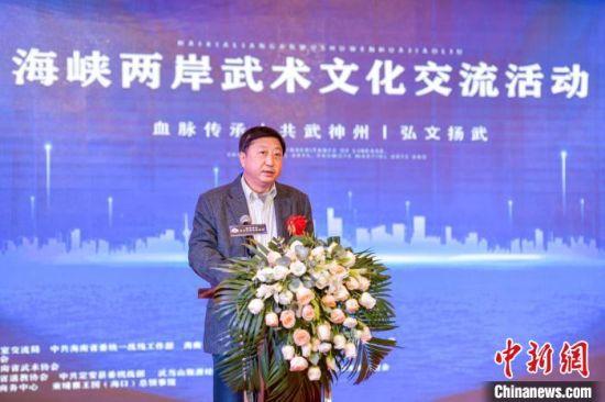 海南省委统战部副部长、省台办主任刘耿致辞。 骆云飞 摄