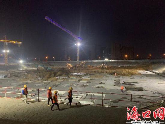 海口国际免税城项目施工现场。刘杰 摄
