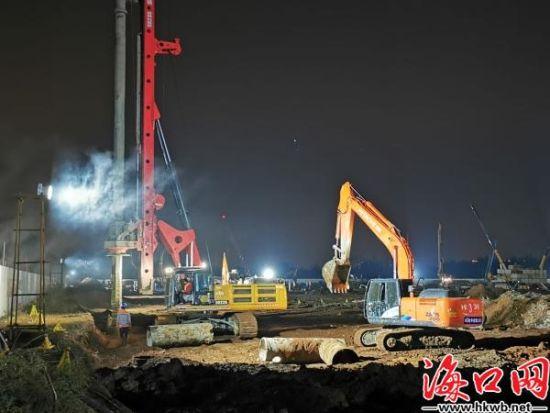 海南未来产业园项目施工现场。(秀英区供图)