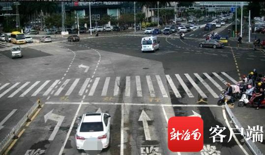 侨中路与金宇东路交叉路口为不规则路口。记者石祖波 摄