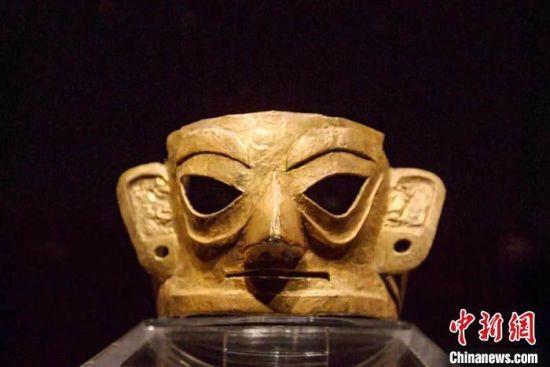 商周金面具,金沙遗址出土。金沙遗址供图