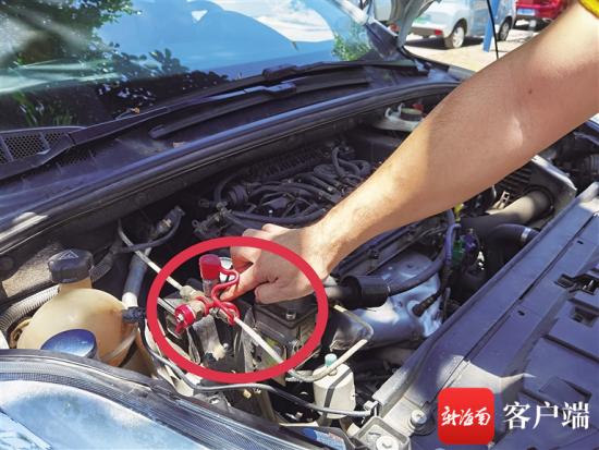 加气装置存在漏气问题。