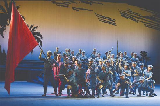 琼剧《红旗不倒》剧照。海南省琼剧院供图