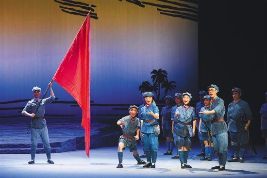 琼剧《红旗不倒》演员剧照。 海南省琼剧院供图