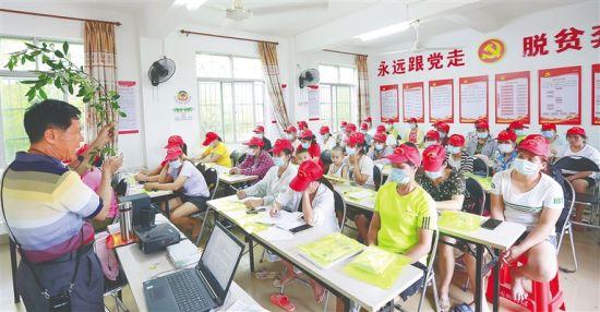 昌江农业农村局举办高素质农民培训班,提高农民的果树培育技术。 陈元才 摄