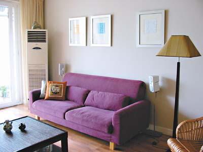 蓝墙客厅装修效果图