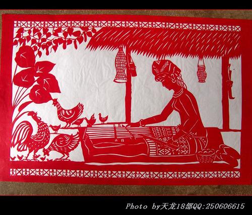 海南黎族民间剪纸欣赏