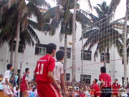 昌锦山锦举办的海南四强排球邀请22日举行,文昌、定安、海口、海
