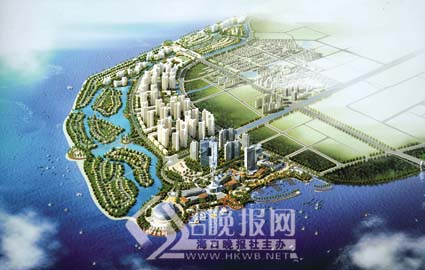 美丽沙建设规划效果图.记者李汉仁摄